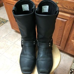 Double H Harness Black Leather Men's Boots